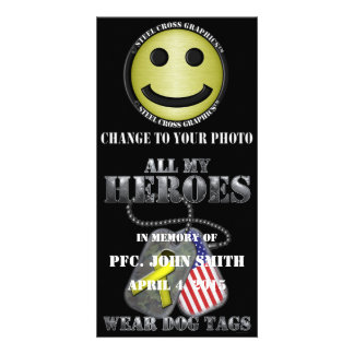 All My Heroes Wear Dog Tags Photo Cards