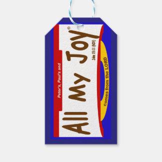 All My Joy Lord Gift Tag/Mini-Card