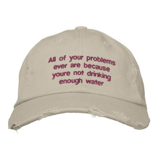 All of your problems ever are because youre not dr embroidered hat