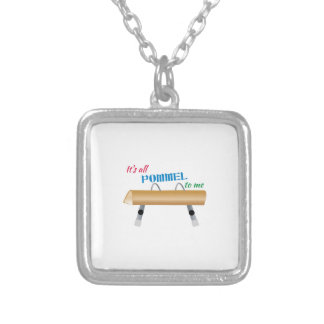All Pommel to Me Square Pendant Necklace