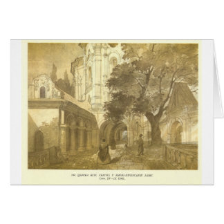 All Saints Church at Kiev Pechersk Lavra by Taras Card