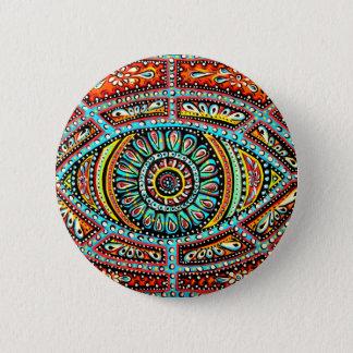 All Seeing Eye 6 Cm Round Badge