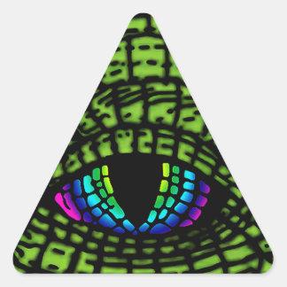 All-Seeing-Reptilian-Eye Triangle Sticker