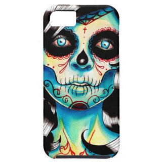 All Shook Up Sugar Skull Girl Tough iPhone 5 Case