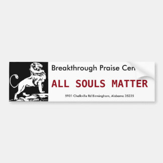 All Souls Matter Bumper Sticker