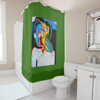 ALL STITCHED UP SHOWER CURTAIN