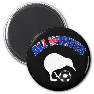 All Whites Kiwi Soccer team fans football gifts 6 Cm Round Magnet