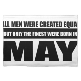 All women were created equal may designs placemat