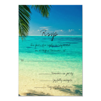 All You Need Is Love and The Beach Wedding RSVP Card