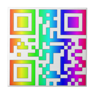 ALL YOU NEED IS LOVE - qr Small Square Tile