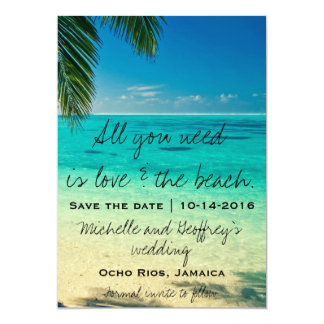 All You Need Is Love & The Beach Save the Date Card