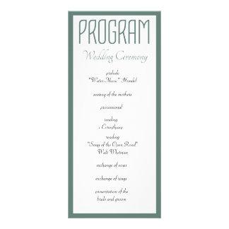 All You Need is Love Wedding Program Personalised Rack Card