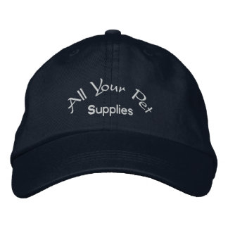 All your pet supplies embroidered baseball caps