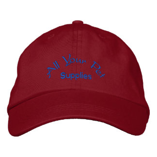 All your pet supplies embroidered cap