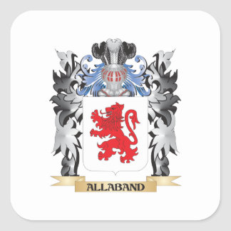 Allaband Coat of Arms - Family Crest Square Sticker
