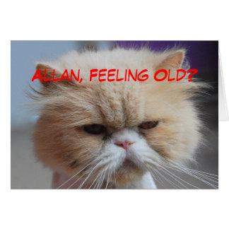 Allan Brother Birthday Persian Cat Humor Greeting Card