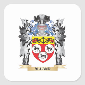 Alland Coat of Arms - Family Crest Square Sticker