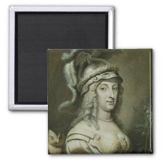 Allegorical Portrait of Queen Christina of Square Magnet