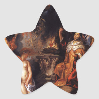 Allegory of the Peace of Westphalia Jacob Jordaens Star Sticker
