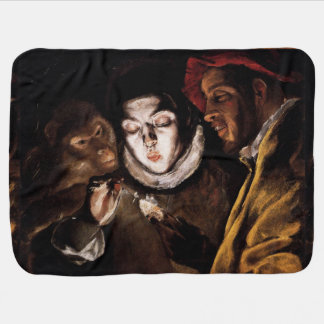 Allegory with Boy Lighting Candle by El Greco Swaddle Blankets