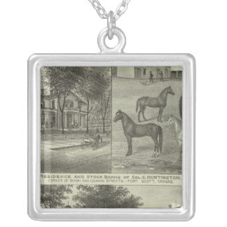 Allen County, Kansas 2 Silver Plated Necklace