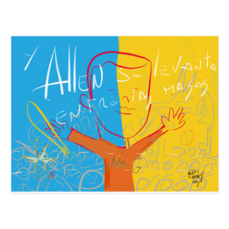 Allen Rises Among the Masses by Kelvin Huggins Postcard