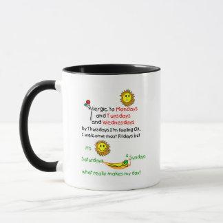 Allergic to Mondays Mug