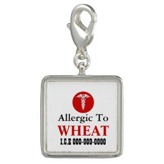 Allergic wheat silver square | Personalize