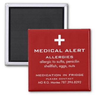 Allergies Medical Alert Magnet
