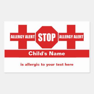 Allergy Medical Alert Custom Sticker