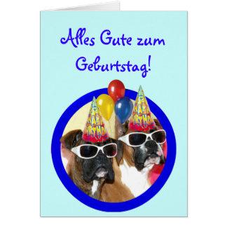 Alles Gute zum Geburtstag Boxer Hunde Karte Greeting Card