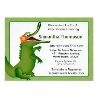 Alligator/Crocodile Baby Shower Invitation