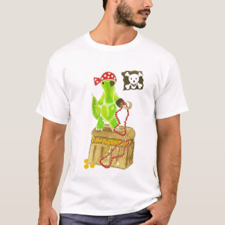 Alligator Pirate Treasure Chest T-Shirt