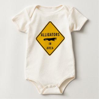 Alligators in Area, Louisiana, USA Baby Bodysuit