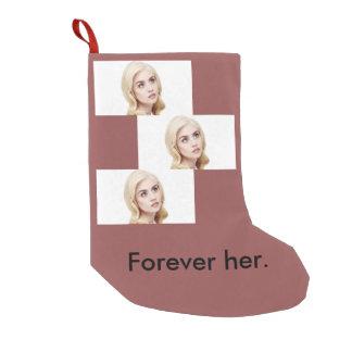 Allison Harvard forever her ornament Small Christmas Stocking