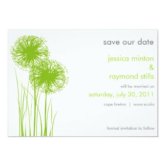 Allium in the Grass Save the Date Card