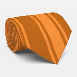 Alloy orange Color Stripe Funky Pattern Tie