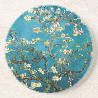 Almond Branches in Bloom Sandstone Drink Coaster
