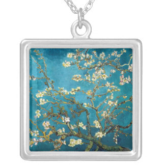 Almond Branches in Bloom Sterling Silver Necklace