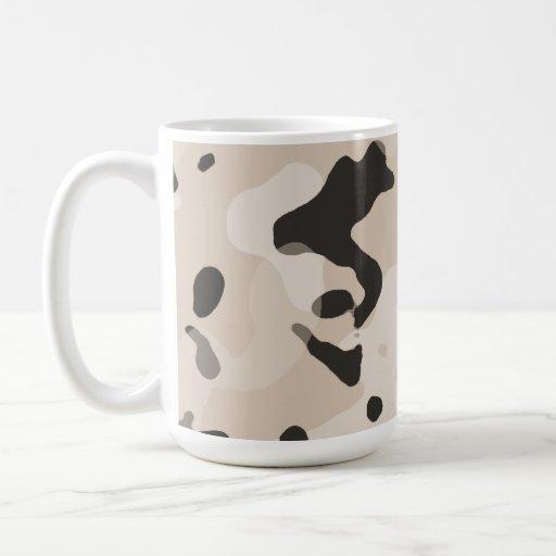 Almond Color Camo; Camouflage Mugs
