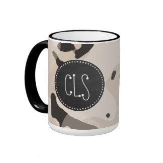 Almond Color Camo; Retro Chalkboard Coffee Mug