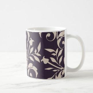 Almond Rose Swirl Basic White Mug