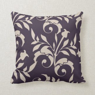 Almond Rose Swirl Throw Cushion