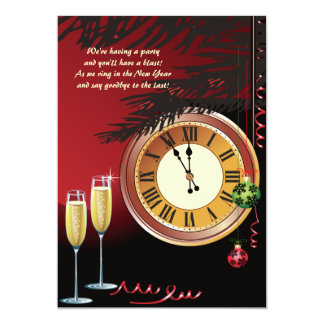Almost Midnight New Year's Eve Invitation