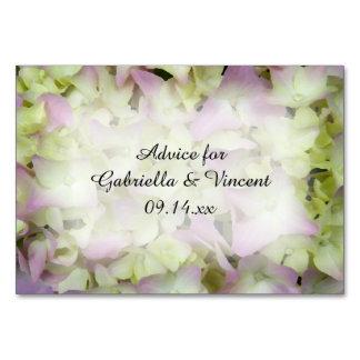 Almost Pink Hydrangea Flowers Wedding Advice Cards
