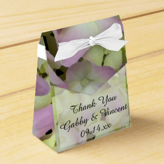 Almost Pink Hydrangea Flowers Wedding Favour Box