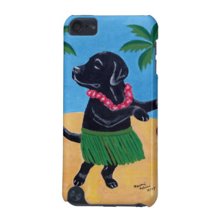 Aloha Black Labrador Painting iPod Touch (5th Generation) Case