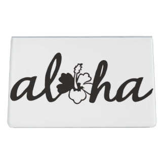 Aloha Desk Business Card Holder