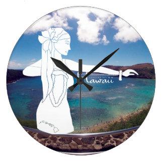 Aloha Hawaii Hula Dance Large Clock