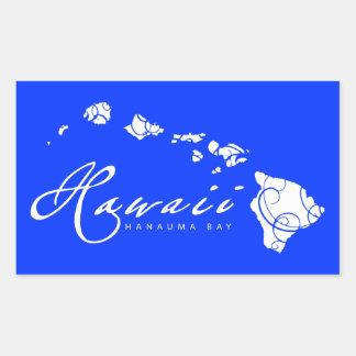 Aloha Hawaii Islands Rectangular Sticker